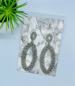 Silver Oval Earrings