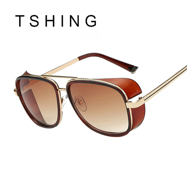 TSHING Fashion IRON MAN 3 Matsuda TONY Steampunk Sunglasses Men Women Brand Designer Clear Shades Metal Frame Sun Glasses