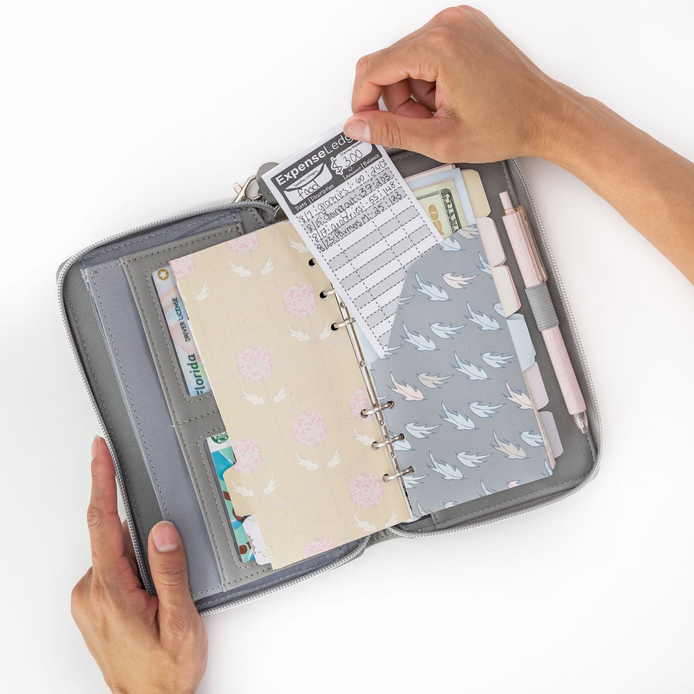 All-In-One Cash Envelope Wallet with Cell Phone Pouch
