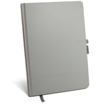 Password Keeper Logbook with Pen Loop and Book Closure - Solid Gray Hardcover