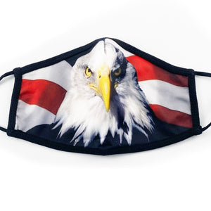 Freedom Eagle Face Mask with Adjustable Straps and Filter Pocket - 3 Pack