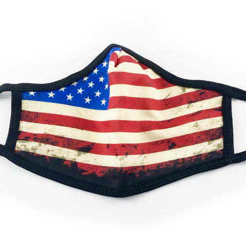 Freedom Flag Reusable Face Mask with Filter Pocket - 3 Pack