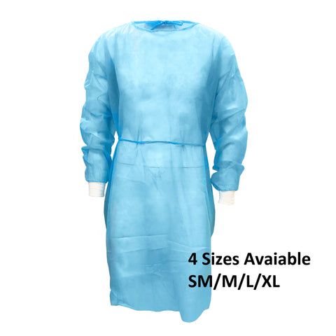 PPE Isolation Gown 25G Level 2 5 PACK FDA/CE Certified