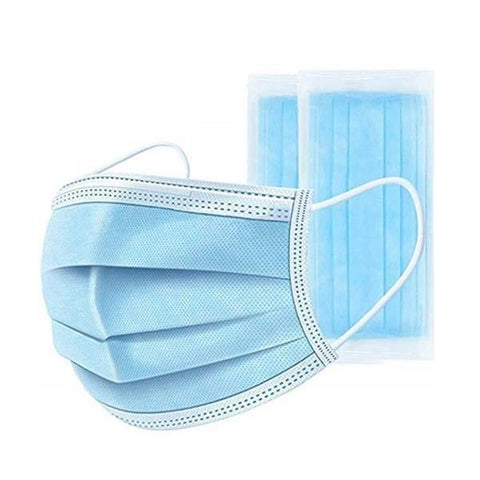 Kids Disposable Face Mask -50 PCS, Blue/White