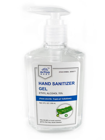 Case of 48 INTCO 8 oz-Hand Sanitizer + Aloe