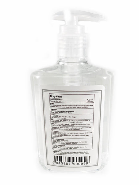 INTCO 8 oz-Hand Sanitizer + Aloe