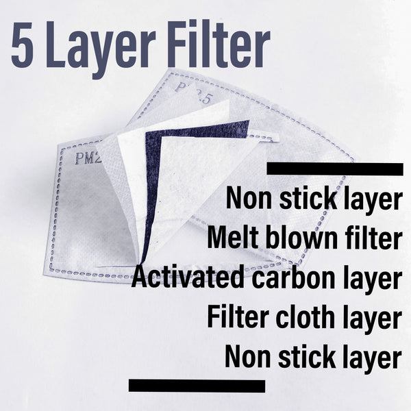PM 2.5 Activated Charcoal Small Filter Insert 50 Pack - ProMasks