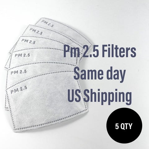 PM 2.5 Filter Mask Insert 5 Pack - ProMasks