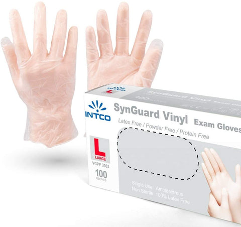 INTCO Vinyl Disposable Gloves, 1 Case/1000 pcs