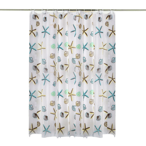 Seashell Waterproof Shower Curtain