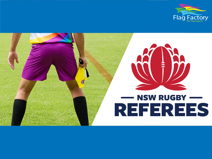 Proudly waving that flag with the NSW Referees