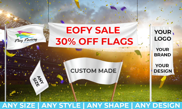 Flag Factory 30% off end of financial year