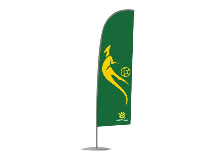 Socceroos Tear Drop Flag