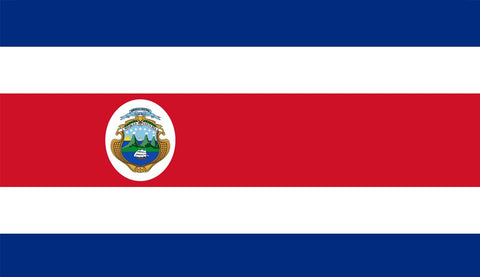 Clearance Costa Rica Flag (2400mm x 1200mm) - Flag Factory