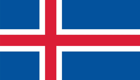 Clearance Iceland Flag (2400mm x 1200mm) - Flag Factory