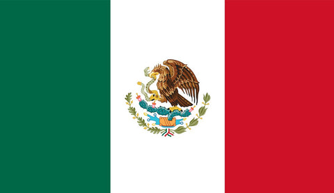Clearance Mexico Flag (2400mm x 1200mm) - Flag Factory