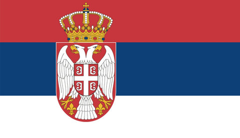 Clearance Serbia Flag (2400mm x 1200mm) - Flag Factory