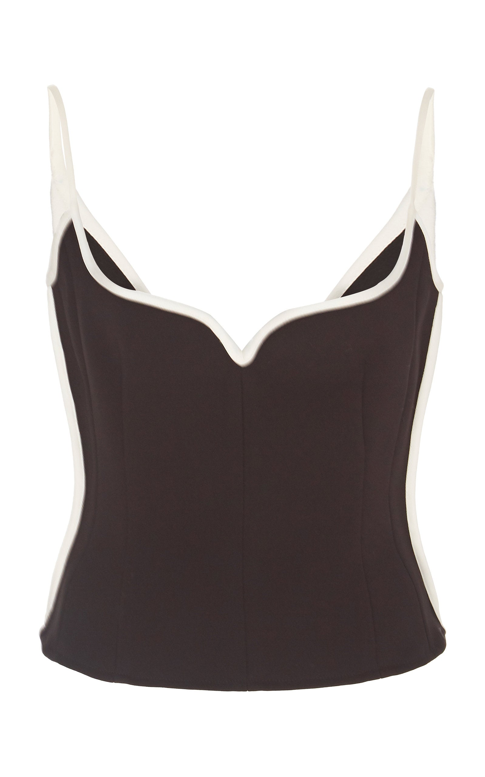 Heart Singlet | Black with White