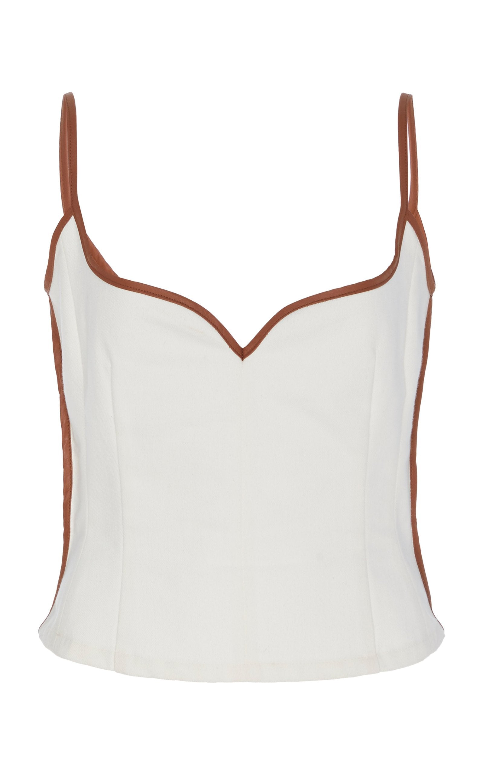 Heart Singlet | White and Tan
