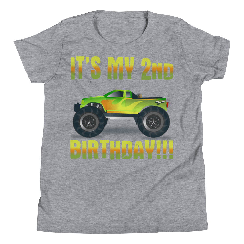 Youth Short Sleeve T-Shirt IT'S MY 2ND BIRTHDAY!!! - HILLTOP TEE SHIRTS