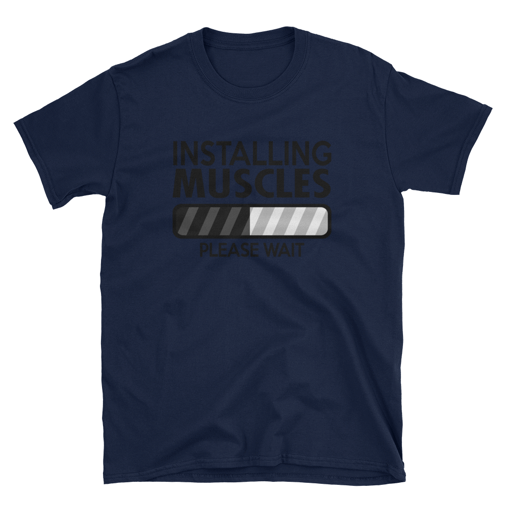 INSTALLING MUSCLES PLEASE WAIT - HILLTOP TEE SHIRTS