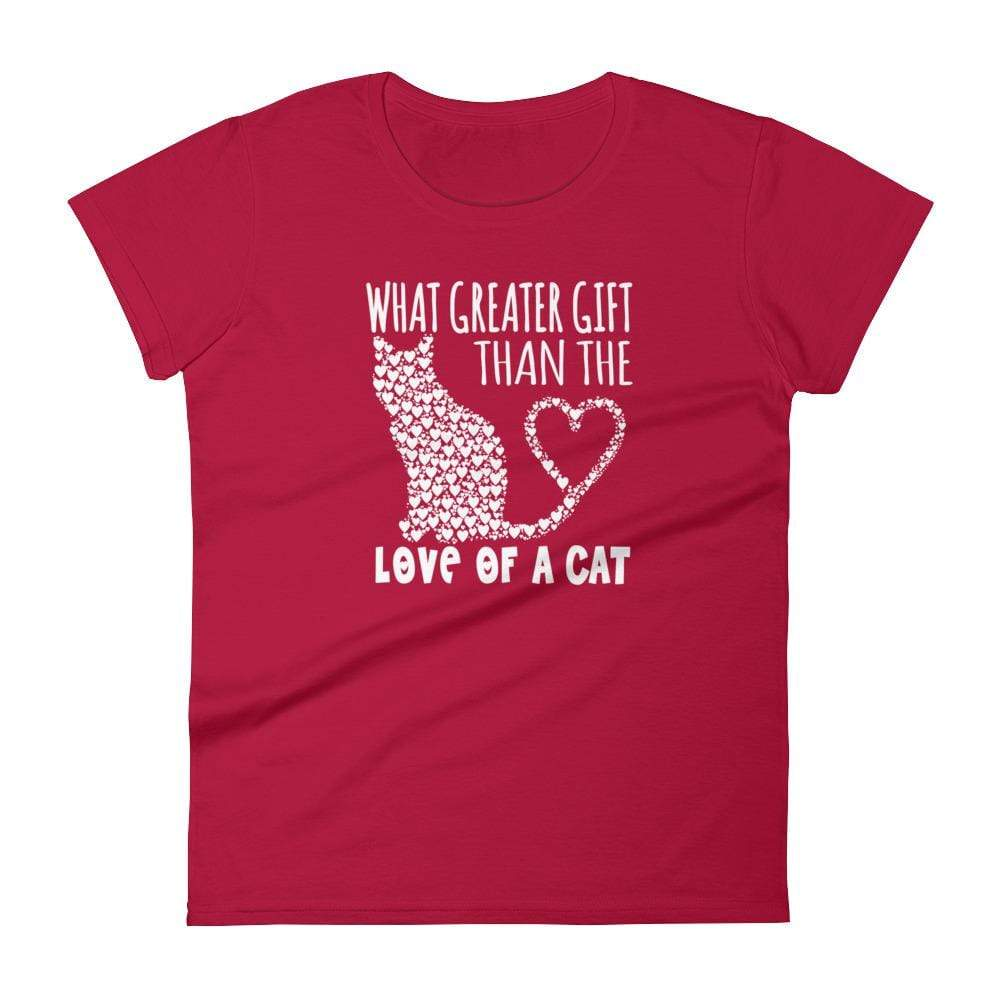 WHAT GREATER GIFT THAN THE LOVE OF A CAT - HILLTOP TEE SHIRTS