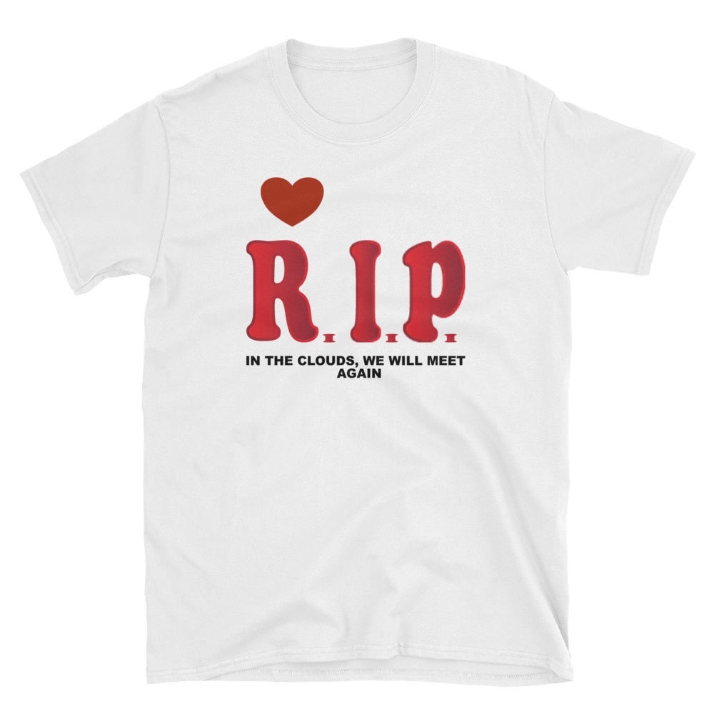 R.I.P  IN THE CLOUDS, WE WILL MEET AGAIN - HILLTOP TEE SHIRTS