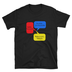 RED BLOOD BLUE UNHAPPY YELLOW HOPE - HILLTOP TEE SHIRTS