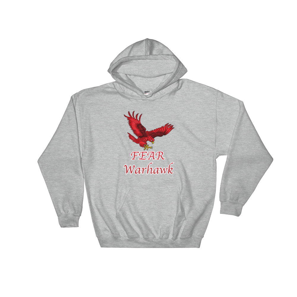 Hooded Sweatshirt FEAR Warhawk - HILLTOP TEE SHIRTS