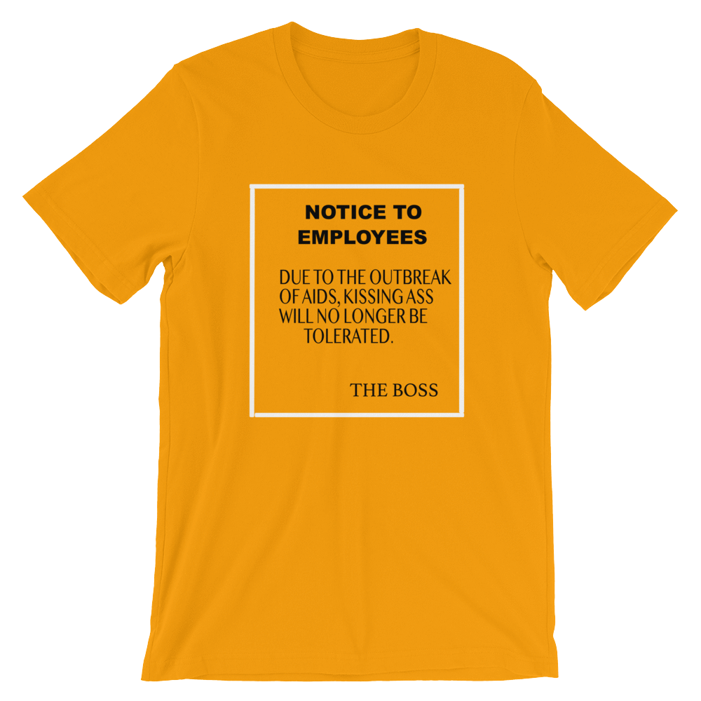NOTICE TO EMPLOYEES - HILLTOP TEE SHIRTS
