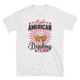 RED AMERICAN DRINKING TEAM - HILLTOP TEE SHIRTS
