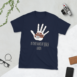 PUT THE CORONAVIRUS IN GOD HANDS IN THE NAME OF JESUS AMEN #18 - HILLTOP TEE SHIRTS