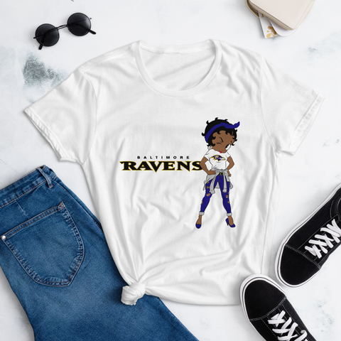 Women's short sleeve t-shirt Ravens