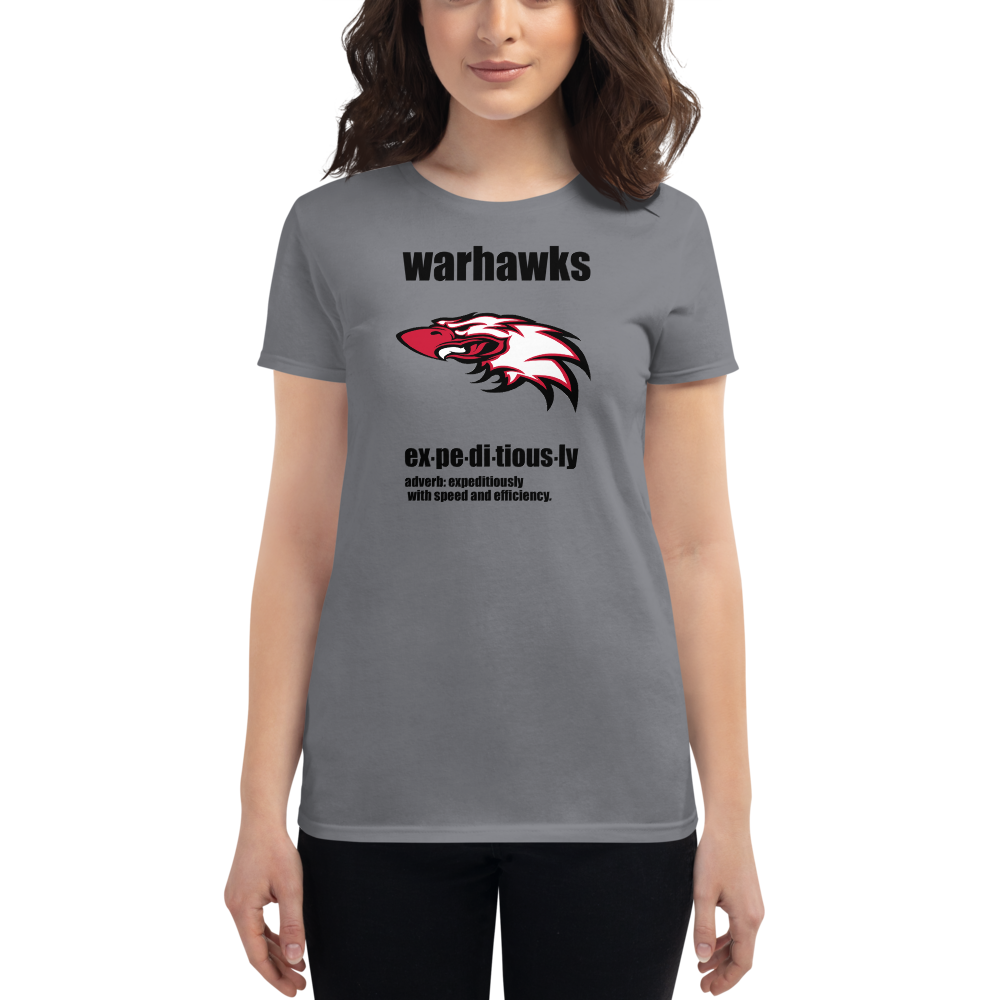 Women's short sleeve t-shirt Warhawks expeditiously - HILLTOP TEE SHIRTS