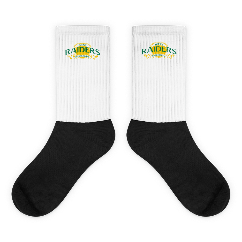 Black Foot Sublimated Socks - L - HILLTOP TEE SHIRTS