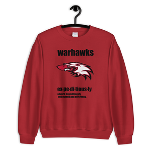 Sweatshirt WARHAWKS EXPEDITIOUSLY - HILLTOP TEE SHIRTS