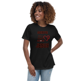Women's Relaxed T-Shirt SERVE WITH A HEART LIKE JESUS #77 - HILLTOP TEE SHIRTS