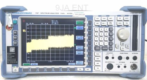 Rohde & Schwarz FSP38, Spectrum Analyzer 9 kHz - 40 GHz. with calibration cert.