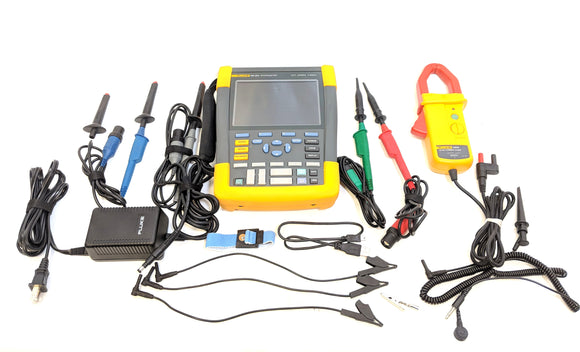 Fluke 190-204 / AM 4 Chan LCD Color ScopeMeter Oscilloscope w/ Fluke i1010