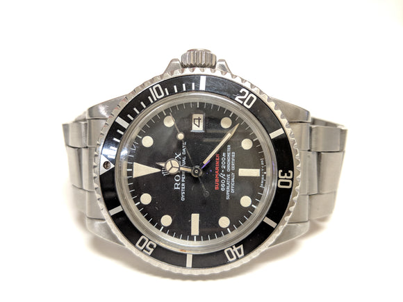 Rare Rolex 1680 Submariner Red Watch 1960s 1680 1570