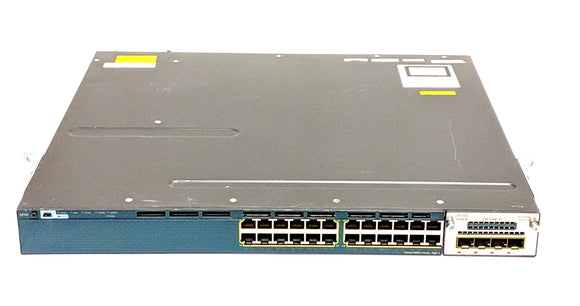 Cisco Catalyst WS-C3560X-24P-S PoE 24 Port Switch w/ C3KX-NM-1G Module V 05