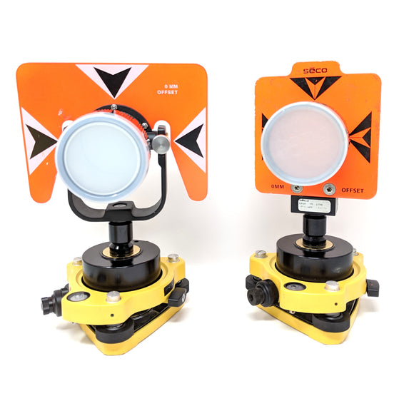 Dual Traverse Prism Seco Set with Tribrach and Quick Connect Trimble Topcon Sokkia Leica