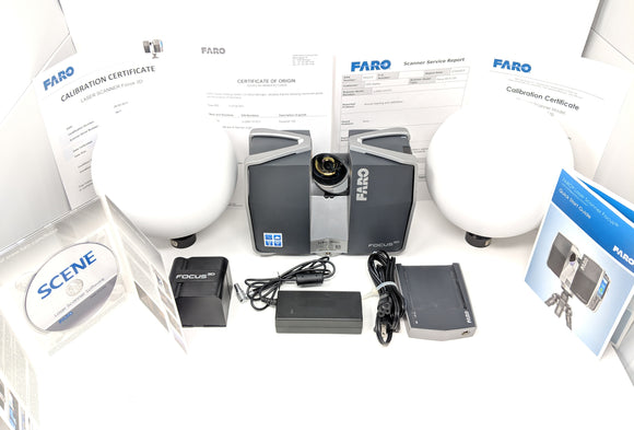 Excellent Faro 3D S120 Laser Scanner Kit w/ Scene Software (Trimble TX5)
