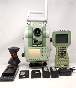 "Leica TCRP1203 R300 3"" Robotic Total Station Allegro XE SurvCe 360 Prism Kit"