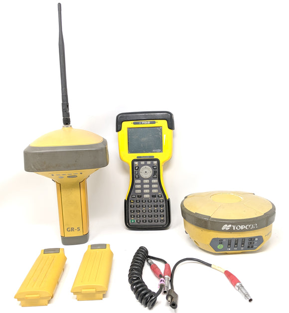 Topcon GNSS Survey Kit Hiper GR-5 and TDS Ranger Survey Pro Base Rover GPS