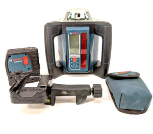 Bosch Grl 500h Professional Self-leveling Rotary Laser With Receiver