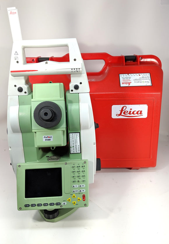 Leica TS12 R400 Powersearch Robotic Total Station w/ RH17 Handle