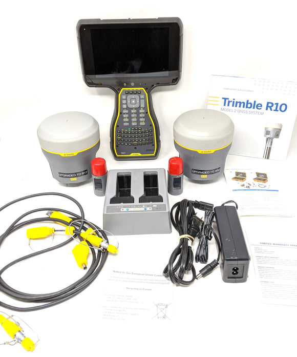 Trimble R12 Base & Rover GNSS Surveying Kit with TSC7 Trimble Access