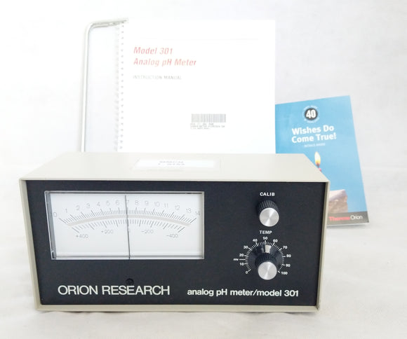 Thermo Orion PH Meter Model 301 Analog w/ Support Rod & Manual