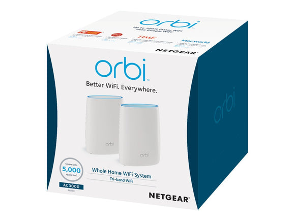 New Orbi AC3000 Tr-Band Wifi RBK50-100NAS MESH System 5000
